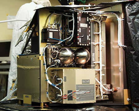Photo of the GC-MS instrument COSAC