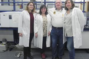 Photo of University of Valencia researchers Úrsula Escrivá, María Jesús Andrés, Vicent Andreu and Yolanda Picó