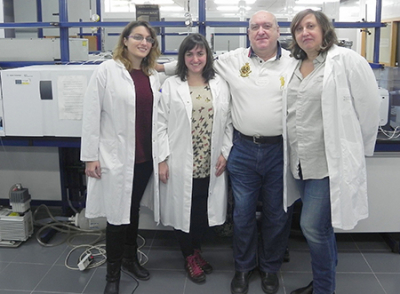 Photo of University of Valencia researchers Úrsula Escrivá, María Jesús Andrés, Vicent Andreu and Yolanda Picó
