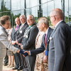 Photo of HRH Princess Anne meeting Renishaw staff