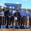 Photograph of Renishaw's senior executive management team breaking ground on the new facility