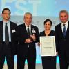 Photo of the award presentation